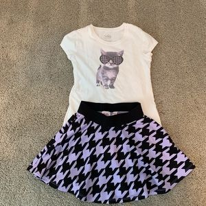 Justice skort and shirt - size 8